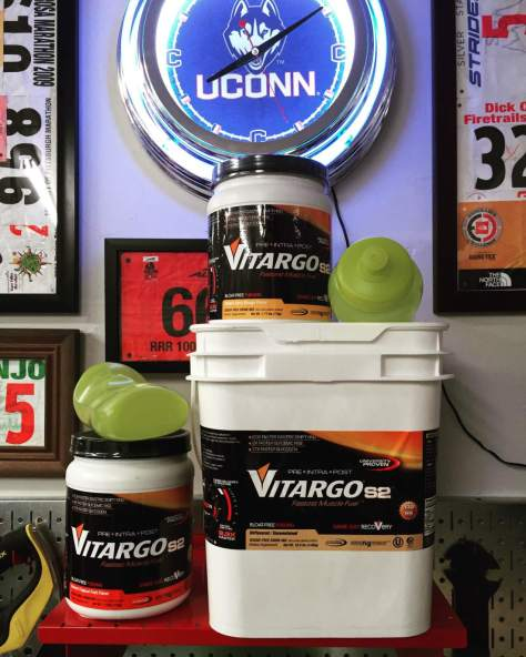 Equally psyched to back on board with the fastest muscle fuel out there—VitargoS2. And by the way, the new watermelon flavor is the bomb.com!!